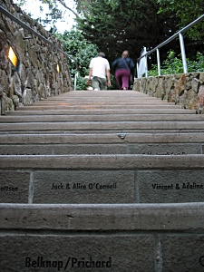 The steps to Coit Tower must have been funded through donations.
