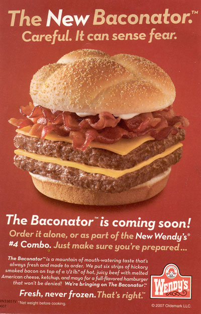 Wendy's Baconator Hamburger